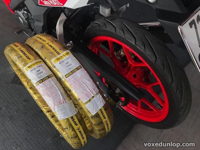Thay vỏ xe sonic 150 bao nhiêu tiền vỏ dunlop cho sonic dùng có tốt không - 3