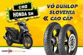 Thay vỏ Dunlop Slovenia cho SH giá bao nhiêu? Lốp xe SH dùng loại nào tốt?